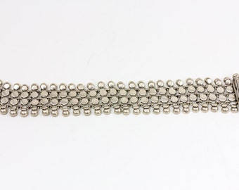 Vintage style victorian silver bracelet