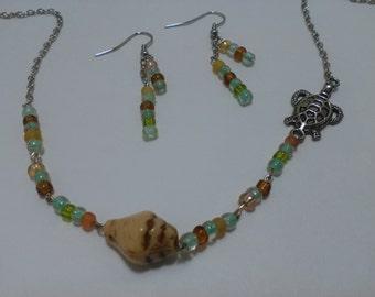 Beach Necklace w/ Earring set
