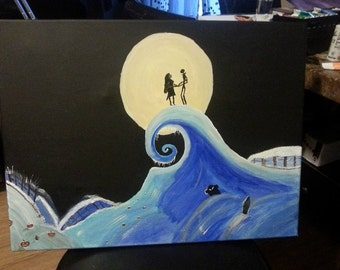 Jack and Sally canvas painting