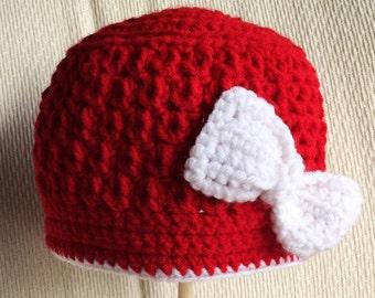 Girls Hat w/ Bow