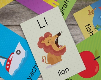 Alphabet and Numbers Flash Cards – 62 Printable, Coloring, Spelling and Mobile version Cards.