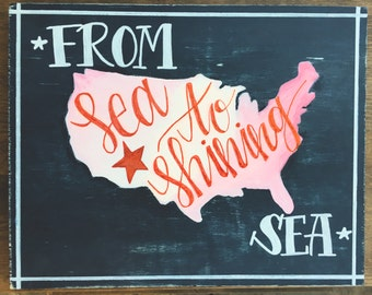 From Sea to Shining Sea Wood Art