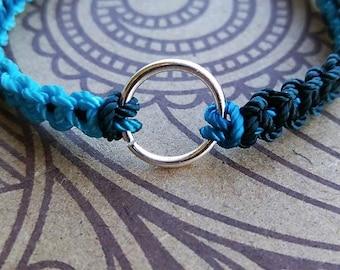 Pearl Ring Bracelet on Adjustable Nylon Thread
