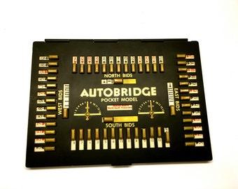 Vintage Autobridge Pocket Model - The Autobridge Co NY, Learn To Play Bridge