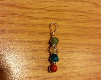 Jasper Beaded Basic Pendant