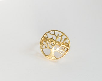 Tree of Life Ring - Tree Ring - Branch Ring - Brass Ring - Simple Ring - Nature Ring - Tribal Jewelry, Adjustable Sizes,- AnahataBoutique-
