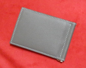 Crispe Goat Leather Money Clip || by hobac