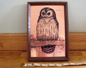 Etchmaster Copper Tawney Owl. I. Hallows