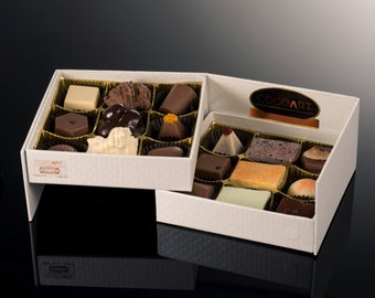 Gift box, Gift basket, Assorted Gourmet Chocolate, For wife, Men, Husband, Party favors, Kosher, Double Tier Chocolate collection of 18 Pc