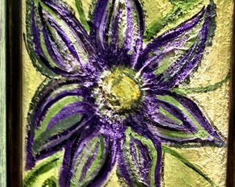 Happy Purple Flower Painting