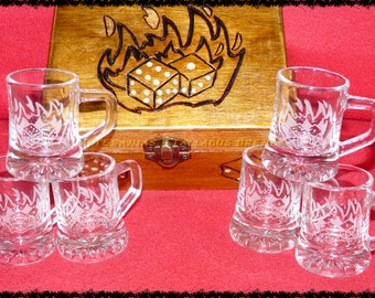 Set set 6 glasses with box game