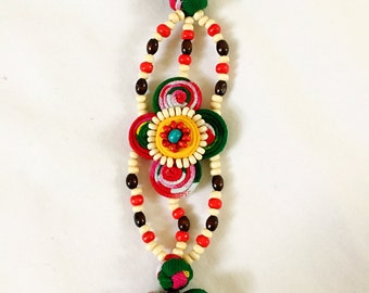 Handcrafted traditional cloud like bracelet