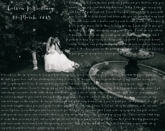 Wedding Vow Picture (Print)