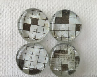 Crossword Puzzle Magnets (Set of 4)