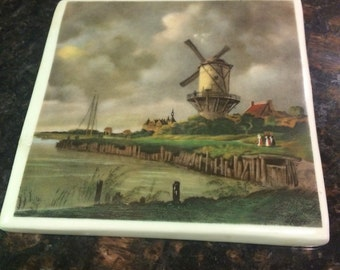 Limoges France Tile, P Pastaud Limoges tile,