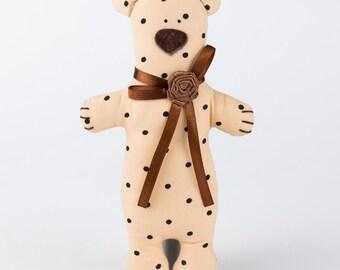 Soft Tilda teddy bear toy - unique handmade gift for Christmas, Thanksgiving, nursery and home decor