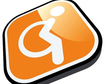 Individual wheelchair symbol car stickers