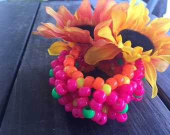 Sunflower Kandi Arm Cuff