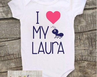 I Love my Aunt Bodysuit  - Niece Shirt - Newpew Shirt - Aunt Shirt -Niece Bodysuit- Nephew Bodysuit