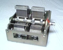 Vintage Russian Air Variable Capacitor 2x(12-495pF) HAM RADIO