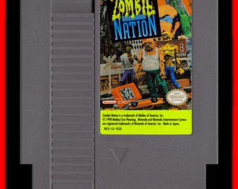 Zombie Nation Reproduction Nintendo (NES) - New - Free Shipping!