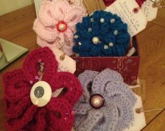 Handmade crochet embellishments