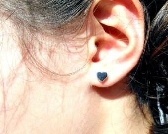 Silver Earrings, Heart Silver Earrings, Silver Stud Earring, Silver Heart , Stud Earings, Heart Studs, Silver Studs