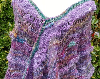 Hand Spun, Hand Dyed, Hand Knitted Shawl