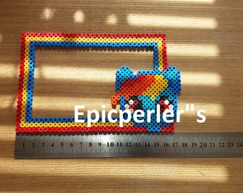 Rainbow dash my little pony perler picture frame