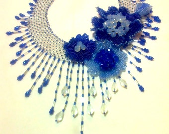 """A necklace of Czech beads """"SPRING"""""""