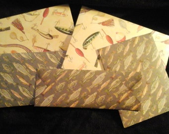 5 FISHING INSPIRED ENVELOPES