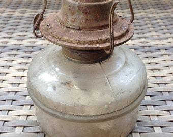 Small Glass Bottom Oil Lantern