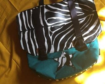 Bag has back, satchel Zebra, Cartacaba