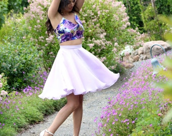 In Love Lilac circle skirt