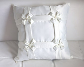 Handmade white pillow