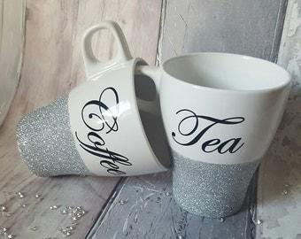 Cute Little Glitter Tea & Coffee Cup Sets