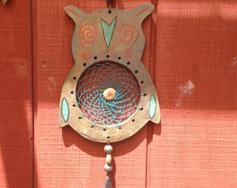 One of A Kind Owl Dreamcatcher