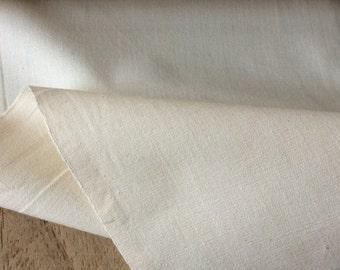 Organic, fair trade, washed, unbleached hardwearing cotton fabric