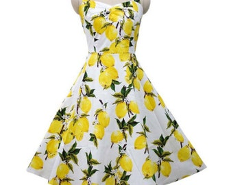 SALE Lemon Swing Dancing Dress (Comes in Plus Size) (Mommy and Me)