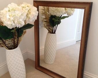 Dark Gold scoop frame mirror 700 x 500.