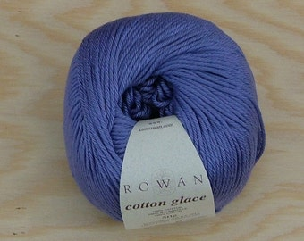 Rowan Cotton Glace Cotton Yarn Made in Hungary Lot No 5309265 Color No 787 Hyacinth Purple Crochet Knit