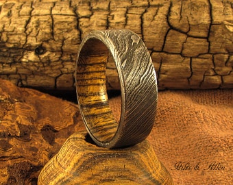 Damascus steel and Bocote Ring