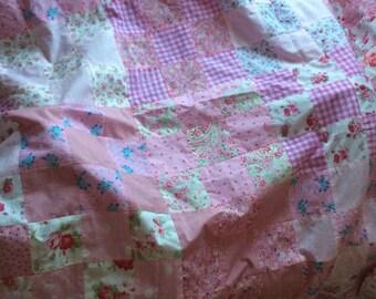 Pink patchwork quilt
