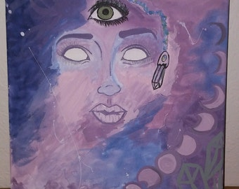 Third Eye Sees All Acrylic Painting