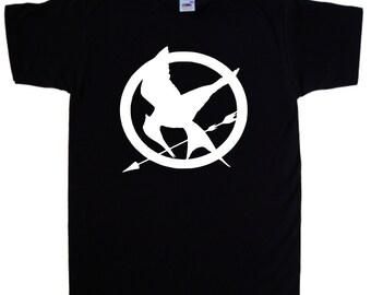 Mocking Jay Emblem T Shirt Hunger Games Pre-Shrunk 100% Cotton T-shirt