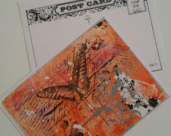 Mixed Media Postcard - Mail Art