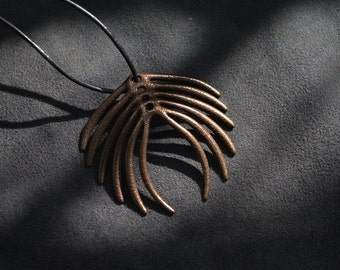 Abstract Feather Pendant