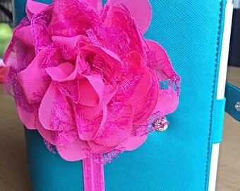 Chiffon & Lace Flower Filofax Planner Band