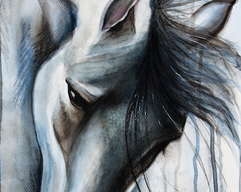Princess, original watercolour painting on Fabriano paper 35x56 cm.