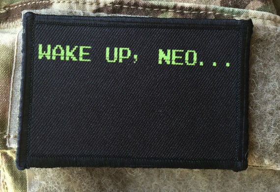 The Matrix Movie Wake Up Neo Velcro Morale Patch by ...